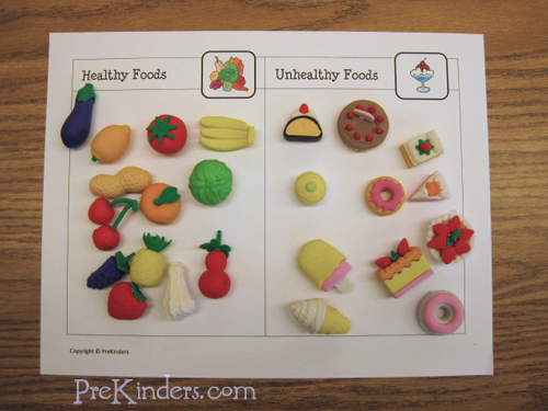 Food classification printable theme healthy me pinterest and unhealthy preschool also rh