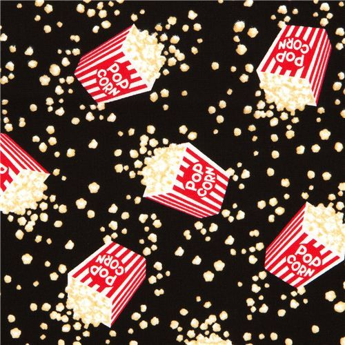 Popcorn Wallpaper: Black Popcorn Fabric By Timeless Treasures From The USA 1