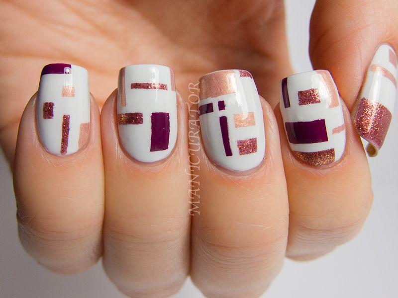 manicurator: De Stijl Inspired Nail Art with OPI Mariah Carey ...