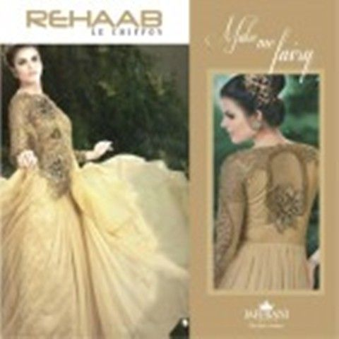 Rehaab Le Chiffon Fall-Winter Collection By Jaffrani Textile 2015-16