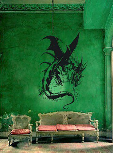 Ik91 Wall Decal Sticker Room Decor Art Mural Fantasy Dragon Bedroom Interior StickersForLife http://www.amazon.com/dp/B00SJU1L7O/ref=cm_sw_r_pi_dp_dr9cvb15VT6KJ