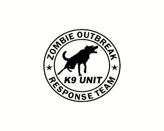 Zombie Sniper Response Team Unit Vinyl Decal Sticker Dead Walking Undead Walker