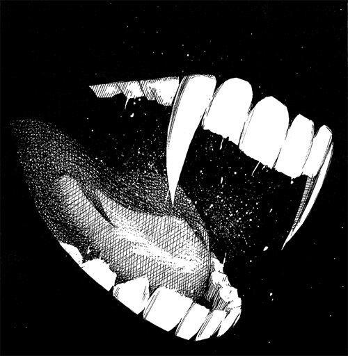 Vampire Black And White And Fangs Image Vampire Art Art Vampire