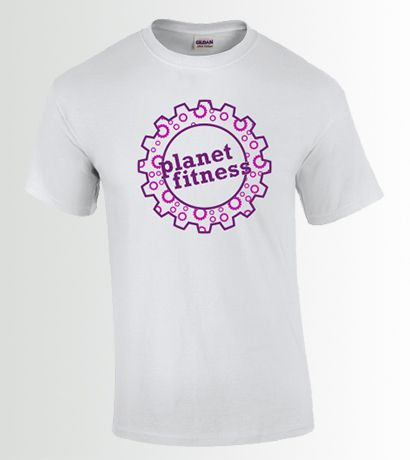 Fitness Gears in Gear TShirt White Image