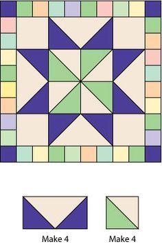 "Scrappy Framed Star Quilt Block Pattern: Scrappy Framed Stars Quilt Block Intro & Cutting Chart 12"" Finished Block Pattern"
