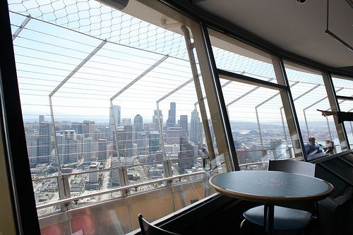 City Viw From Insid The Needle Lobby City View Seattle Photos City
