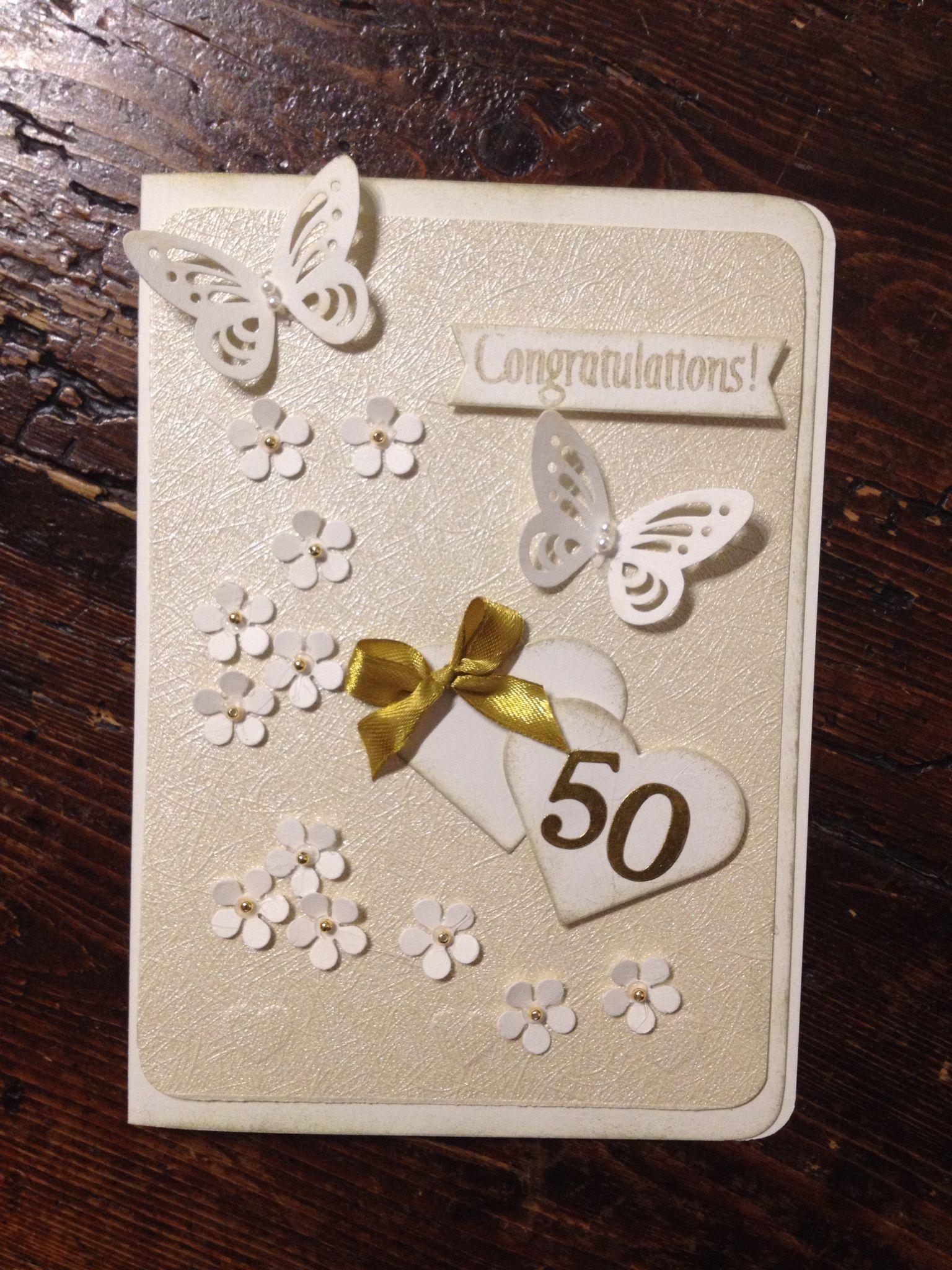 Card 50 Anniversario Matrimonio Biglietti Di Auguri Anniversario 50 Anniversario