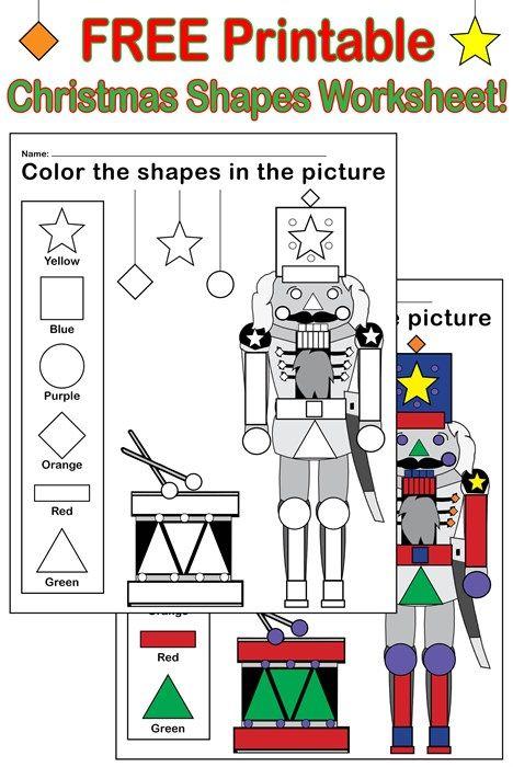 Free Printable Nutcracker Shapes Worksheet Coloring Page