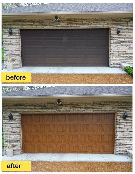 Clopay Gallery Collection Grooved Panel Steel Garage Door With Ultra Grain Paint Finish Www Clopaydo Contemporary Garage Doors Garage Doors Garage Door Styles