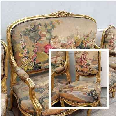 Sala muebles estilo luis xv bogot hogar jardin for Sofas tapizados clasicos