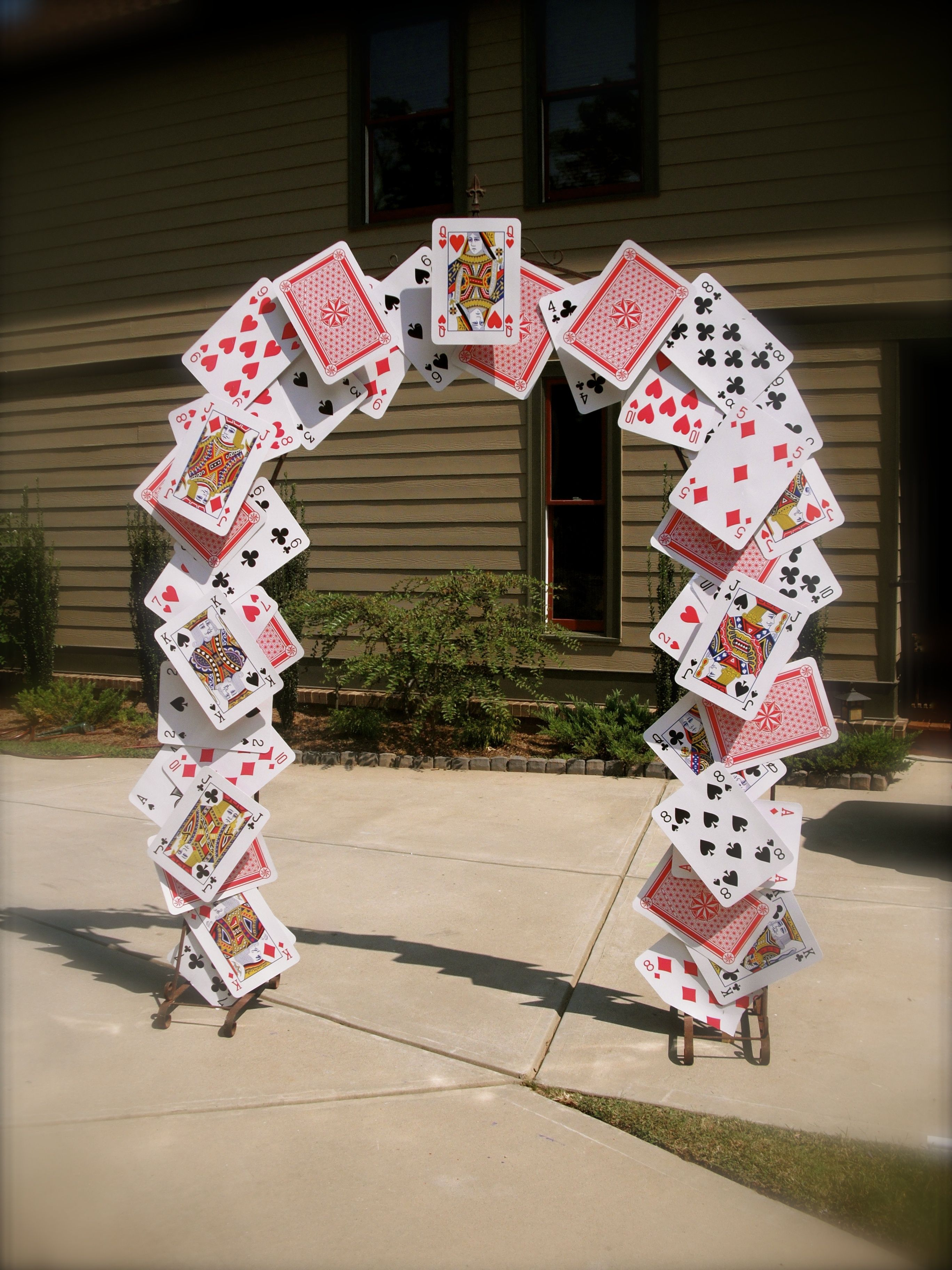 Card Arch for Alice In Wonderland Party Props