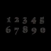 おしゃれ で シンプル 数字 ナンバー スタンプ 白黒 イラスト 数字 数字デザイン スタンプ