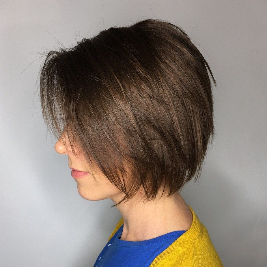 50 Classy Short Bob Haircuts And Hairstyles With Bangs Bobs Haircuts Short Bob Haircuts Stacked Bob Haircut