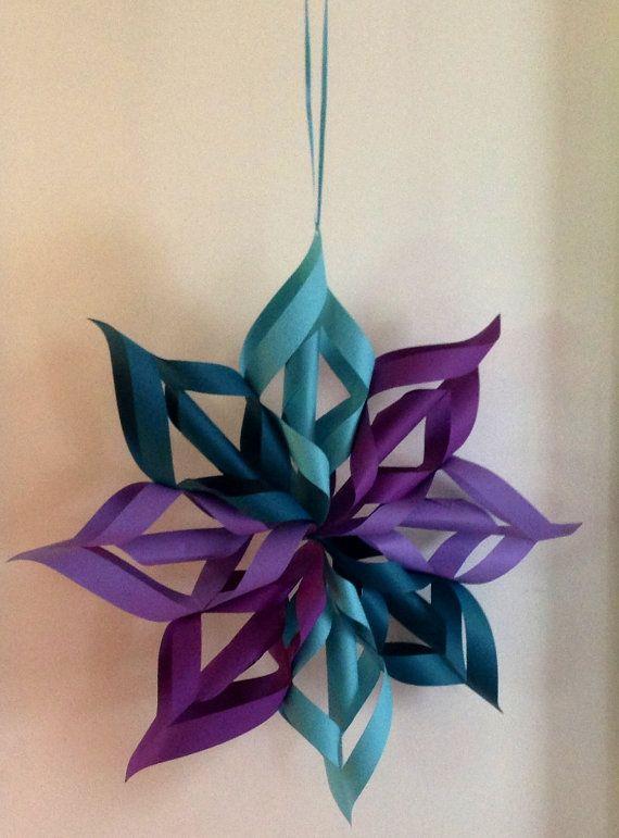 Origami flowerstarsnowflake hanging by vintagevelvetbox on etsy origami flowerstarsnowflake hanging by vintagevelvetbox on etsy 2000 mightylinksfo