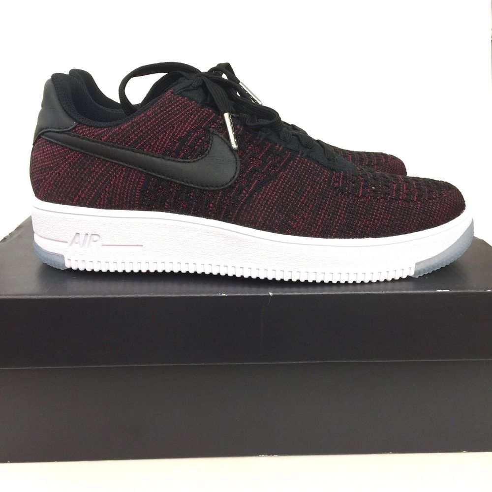 huge discount 86a1d 20bc4 ... coupon for nike air force 1 w af1 flyknit low shoes black red size 9  womens