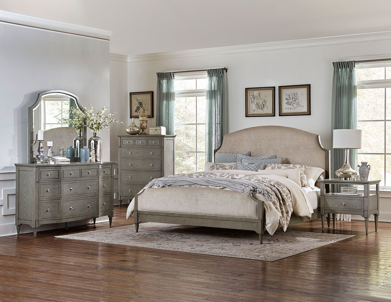 homelegance albright upholstered bedroom set  barnwood