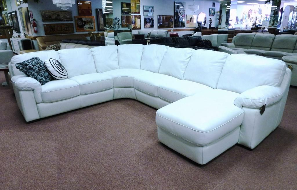 White Leather Sectional For Sale | Sofa | Pinterest | White
