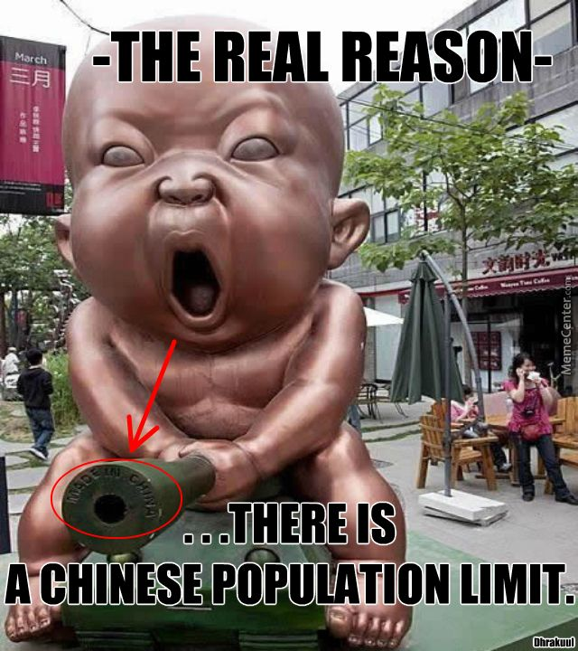 """Dhrakuul's Memecenter Meme: """"-Because They Have Little Chinese Demon Babies.....that Would Take Over The World."""""""