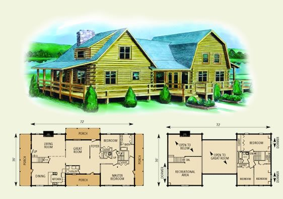 Washington Log Home And Log Cabin Floor Plan This Is The One 5 Bedrooms Log Cabin Floor Plans Cabin Floor Plans Log Home Floor Plans