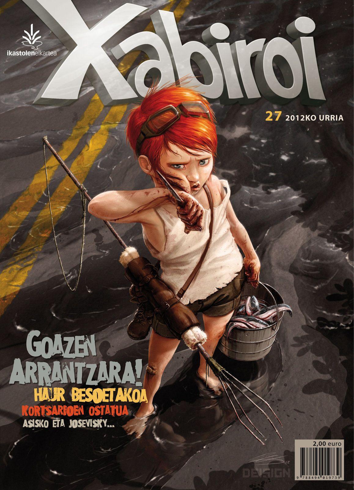 Post Apocalyptic Kid #2 | Magazine Cover, Dei G. on ArtStation at http://www.artstation.com/artwork/post-apocalyptic-kid-2-magazine-cover