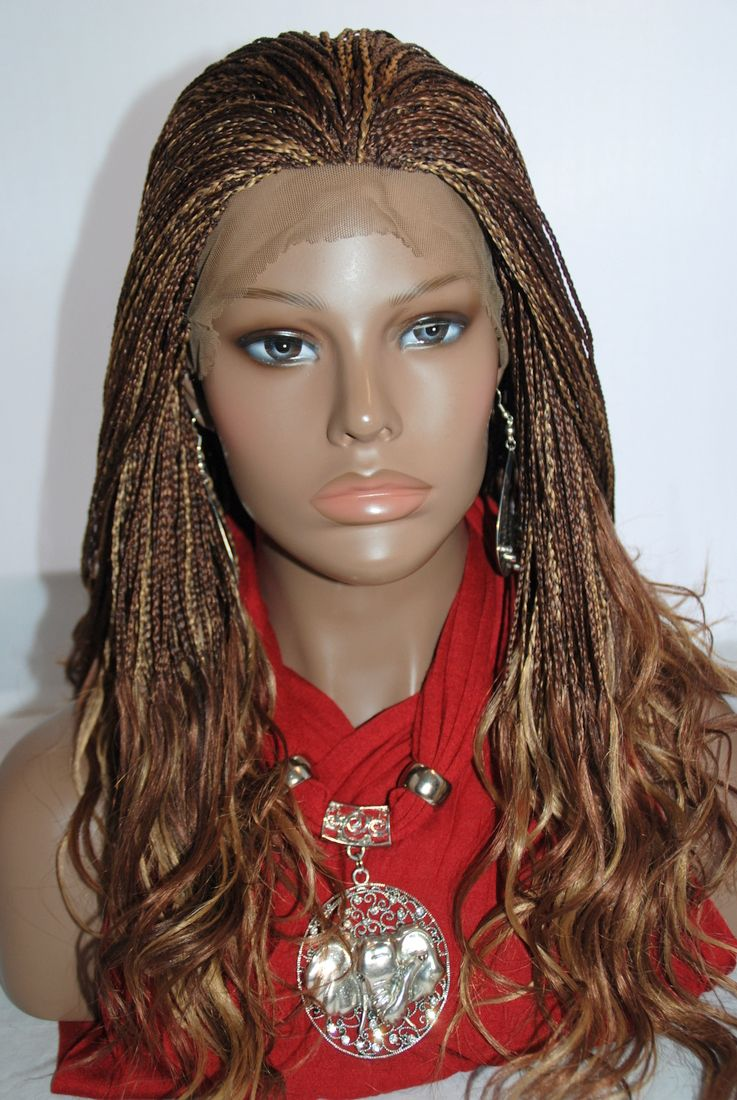Braided Lace Front Wig Micro Braids Color 3027 In 17 Inches