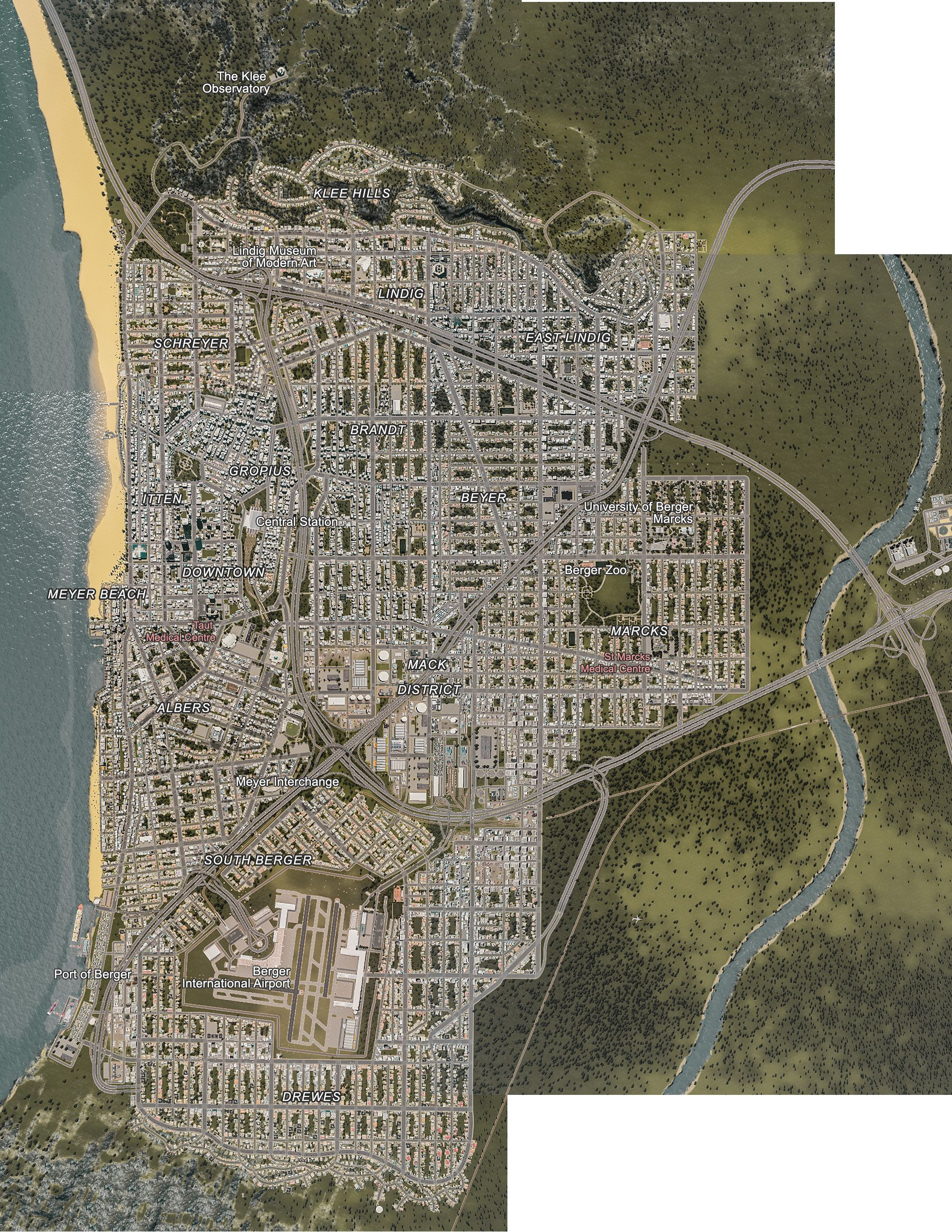 City of berger ca cities skylines inspiration pinterest city full satellite map of berger gumiabroncs Image collections