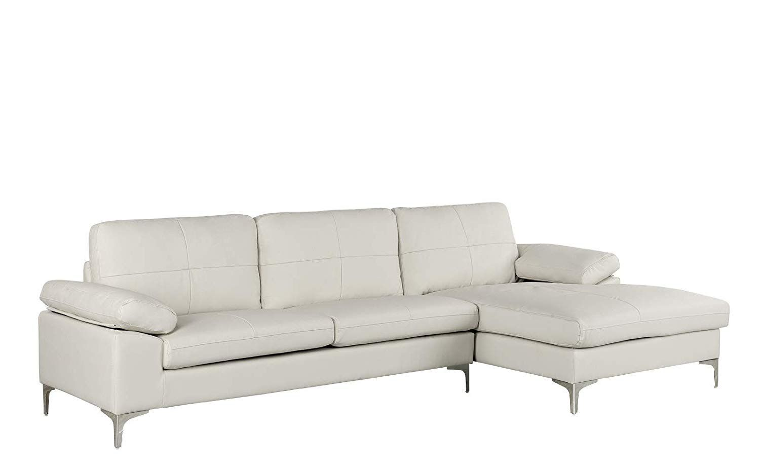 White L Shaped Sofa In 2020 Sectional Sofa With Chaise Couch With Chaise White Sectional Sofa