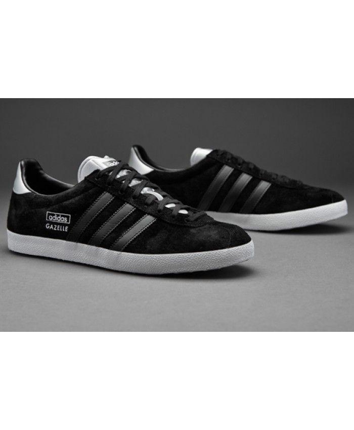 4f9f2e64126ea0 Adidas Originals Gazelle Core Black White Trainer