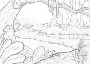 Image Result For Trees Forest Background Coloring Pages Jungle Coloring Pages Coloring Pages Drawings