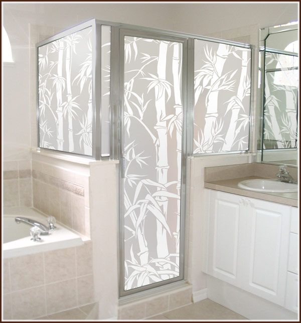 Etching Glass Panel With Bamboo Google Search Shower Doors