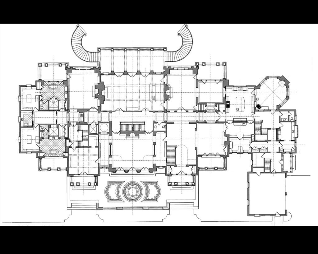 Stephen Fuller Designs High Style Georgian Manor Drawings Architectural Floor Plans Floor Plan Sketch Mansion Floor Plan