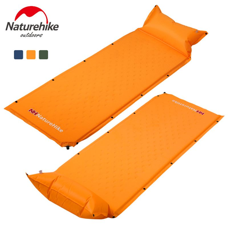 NatureHike Sleeping Mat Mattress Self-Inflating Pad Portable Bed with Pillow C&ing Hiking Tent Mats  sc 1 st  Pinterest & NatureHike Sleeping Mat Mattress Self-Inflating Pad Portable Bed ...