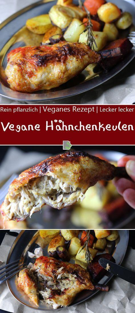 Knusprige vegane Hähnchenkeulen aus dem Ofen - Dailyvegan