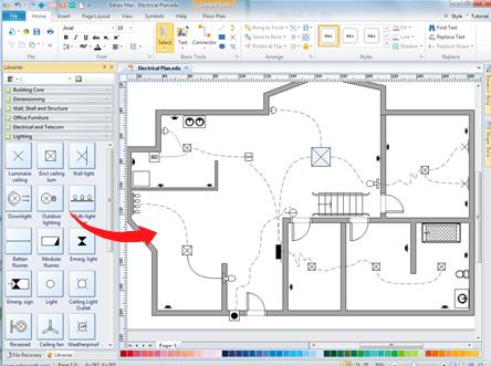 Home Wiring Plan Software Making Wiring Plans Easily Home Wiring Plan Software Basement Wiring House Wiring Home Electrical Wiring Electrical Wiring