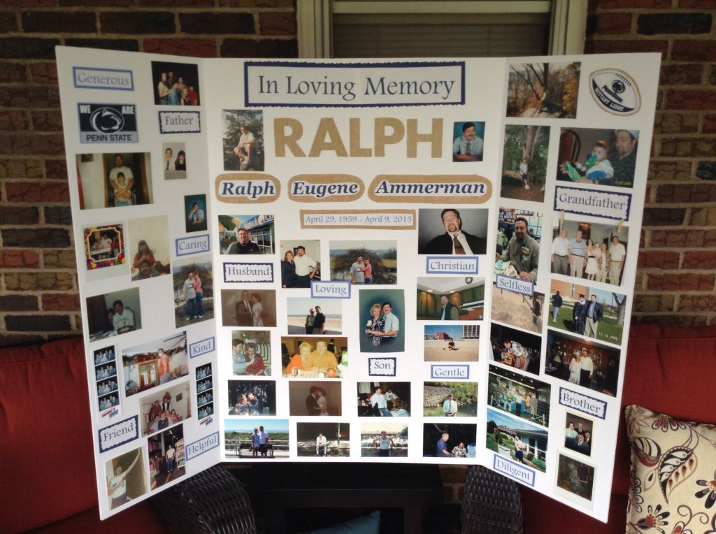 Memory Board For My Stepdad 39 S Funeral This Is Me