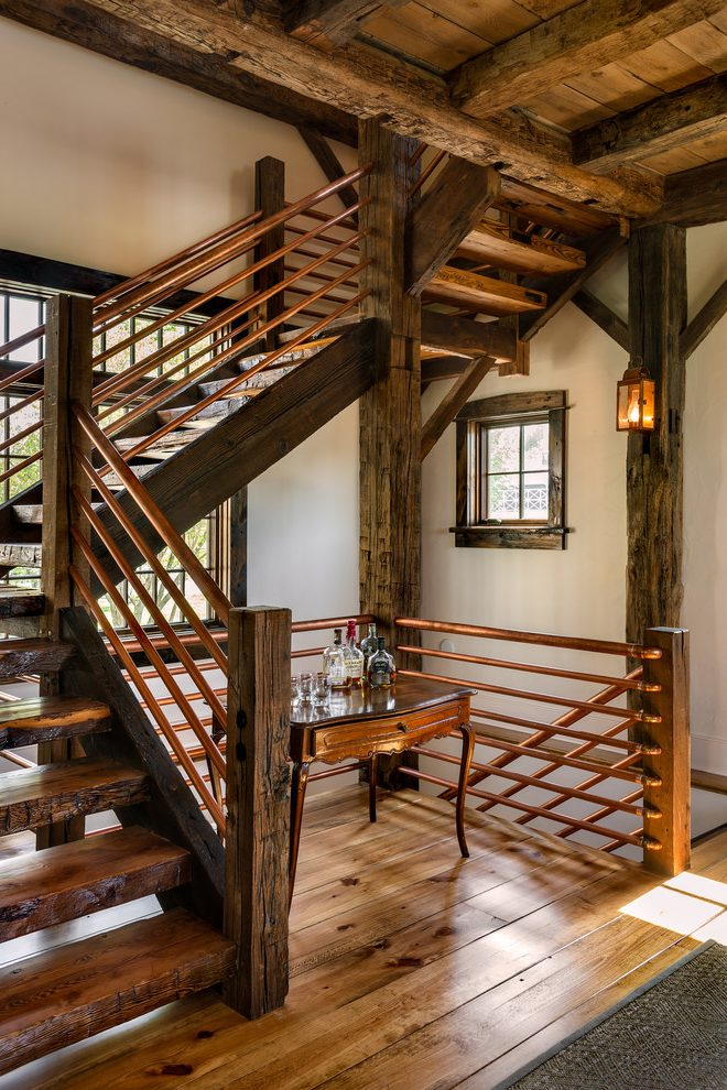 Best Rebar Railing Ideas Staircase Rustic With Large Clear 640 x 480