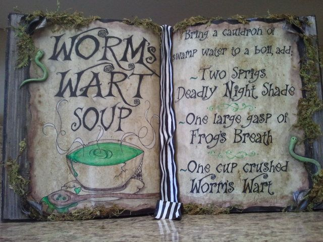 DIY Nightmare Before Christmas Halloween Props DIY Antique Book - tim burton halloween decorations