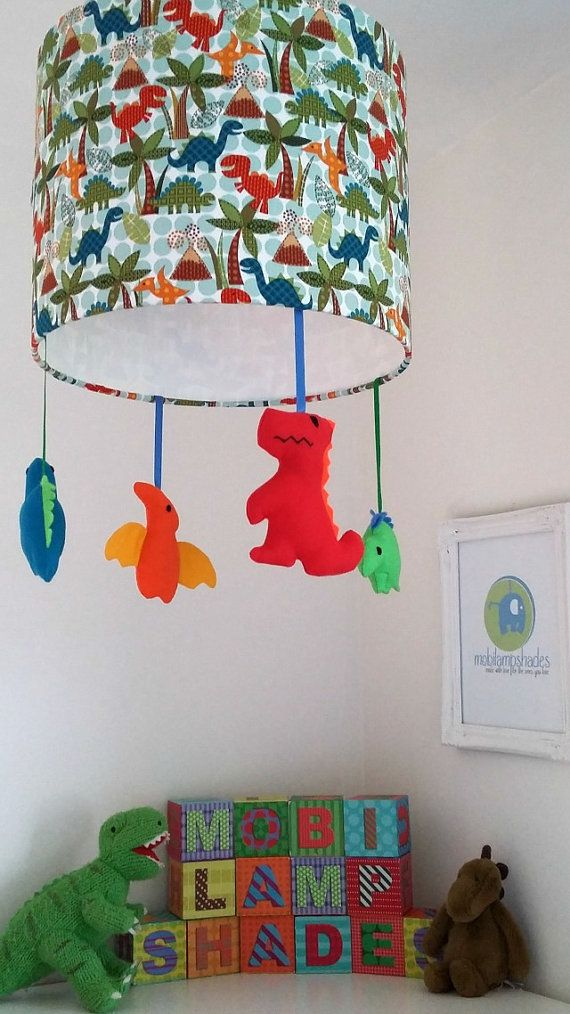 Dinosaur lamp shade nursery lighting children room decor ideal dinosaur baby lampshade nursery lighting by mobilampshades on etsy mozeypictures Gallery