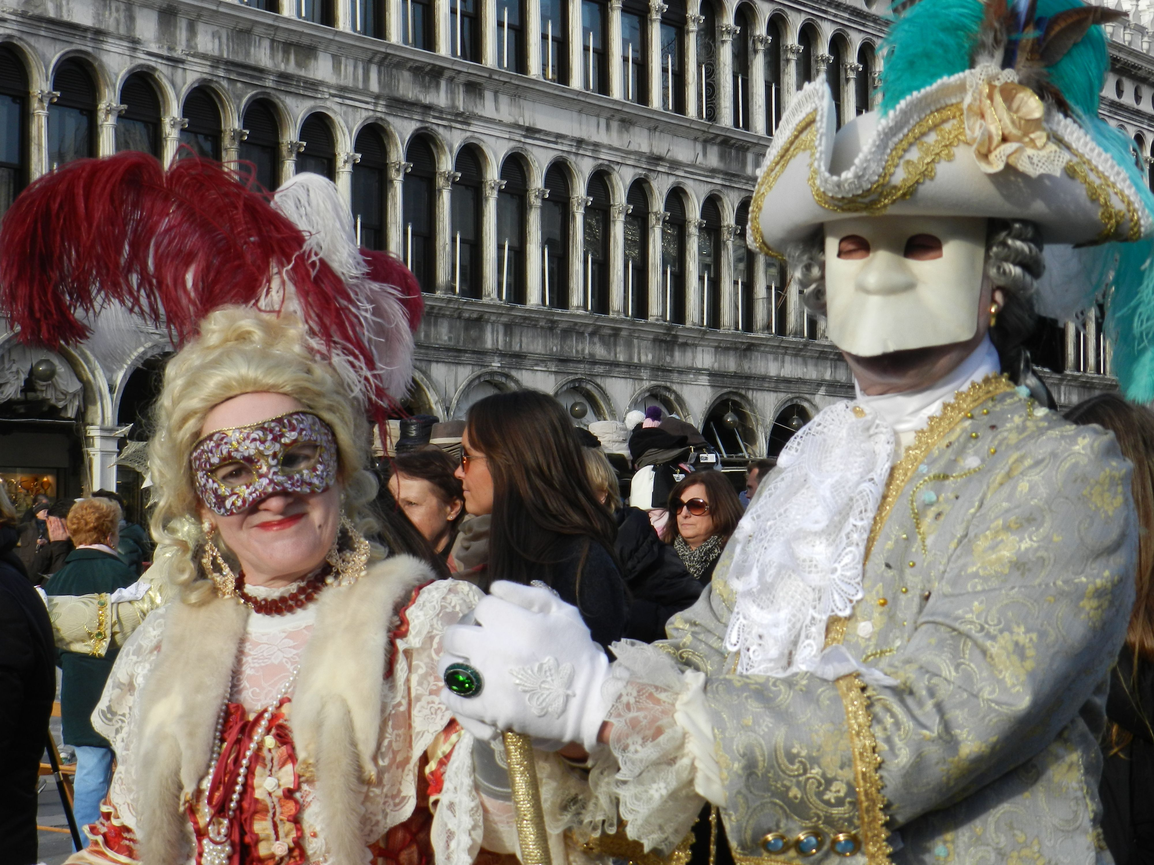 Masked couple, Venice
