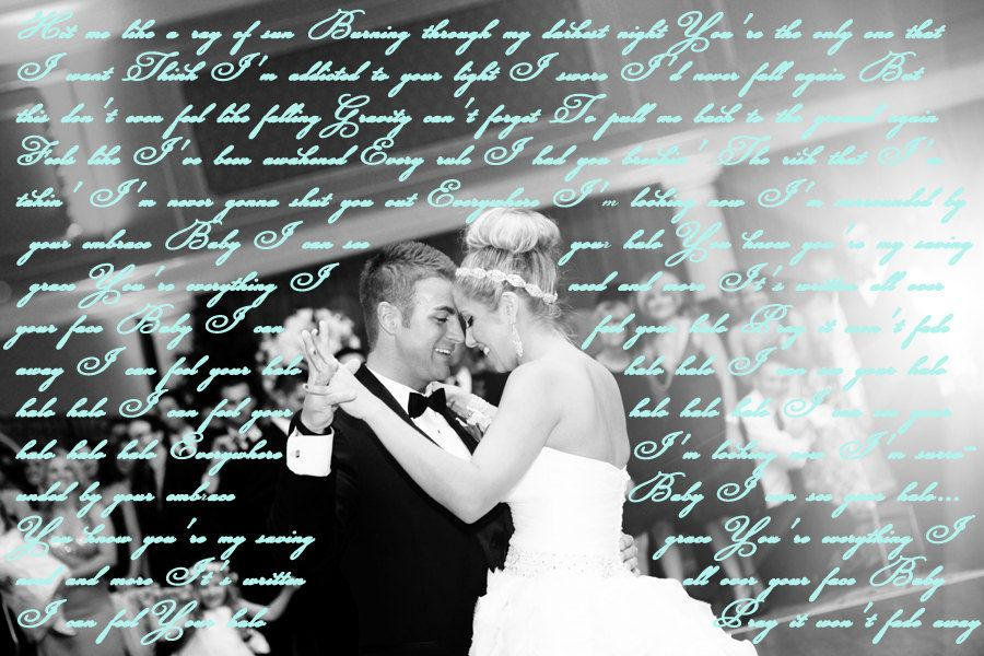 Custom 16x20 wedding canvas with your first dance song