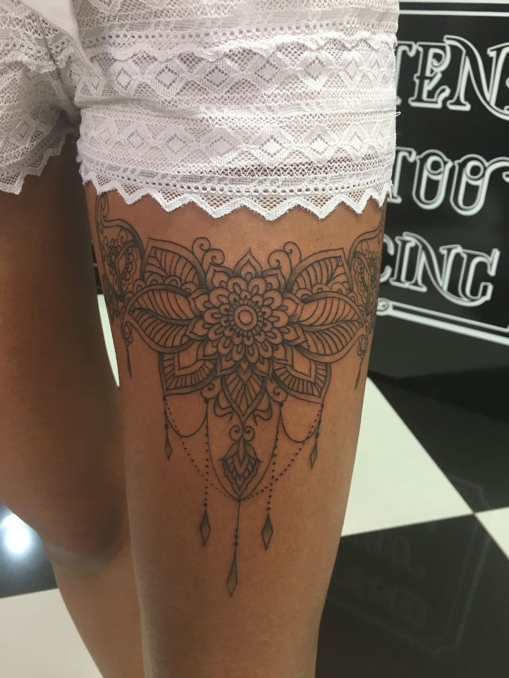 Photo of Tom Barker.tattoo_wien #tattoo #linework #linework tattoo #mandala tattoo #thigh…