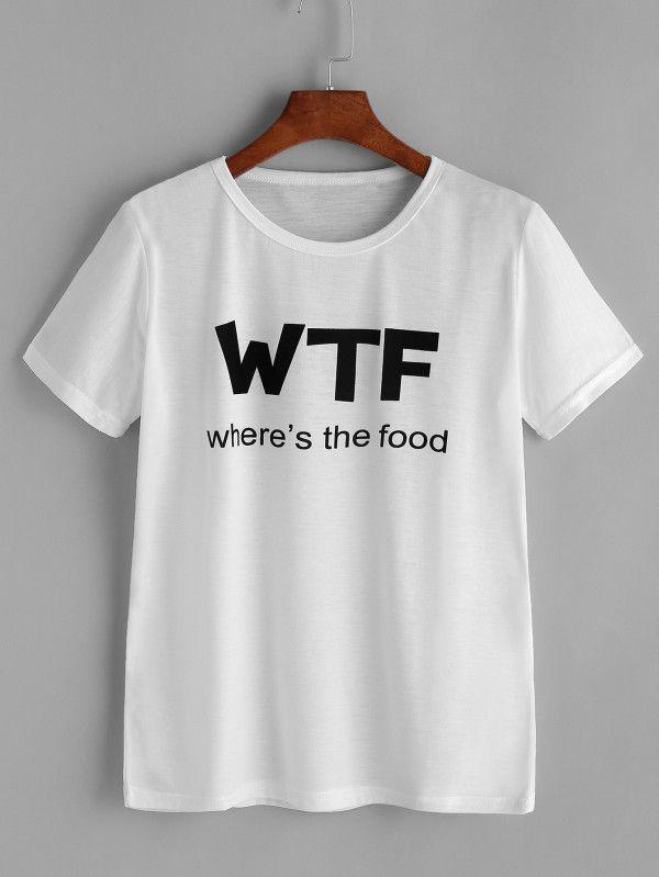 Camiseta estampada de letras spanish sheinsheinside ropa camiseta estampada de letras urtaz Choice Image