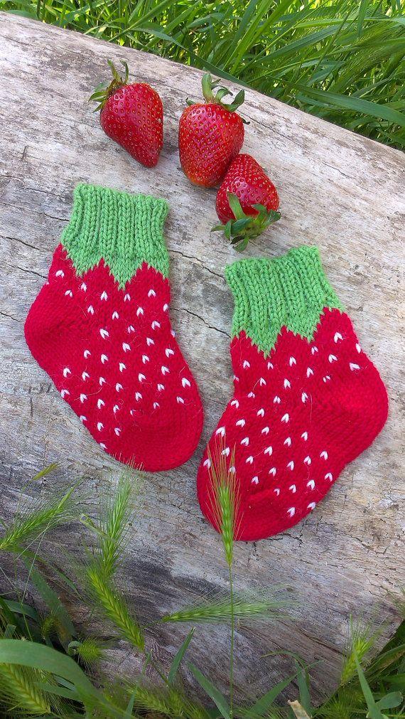 Baby girl socks knit baby socks wool baby socks red socks baby ...
