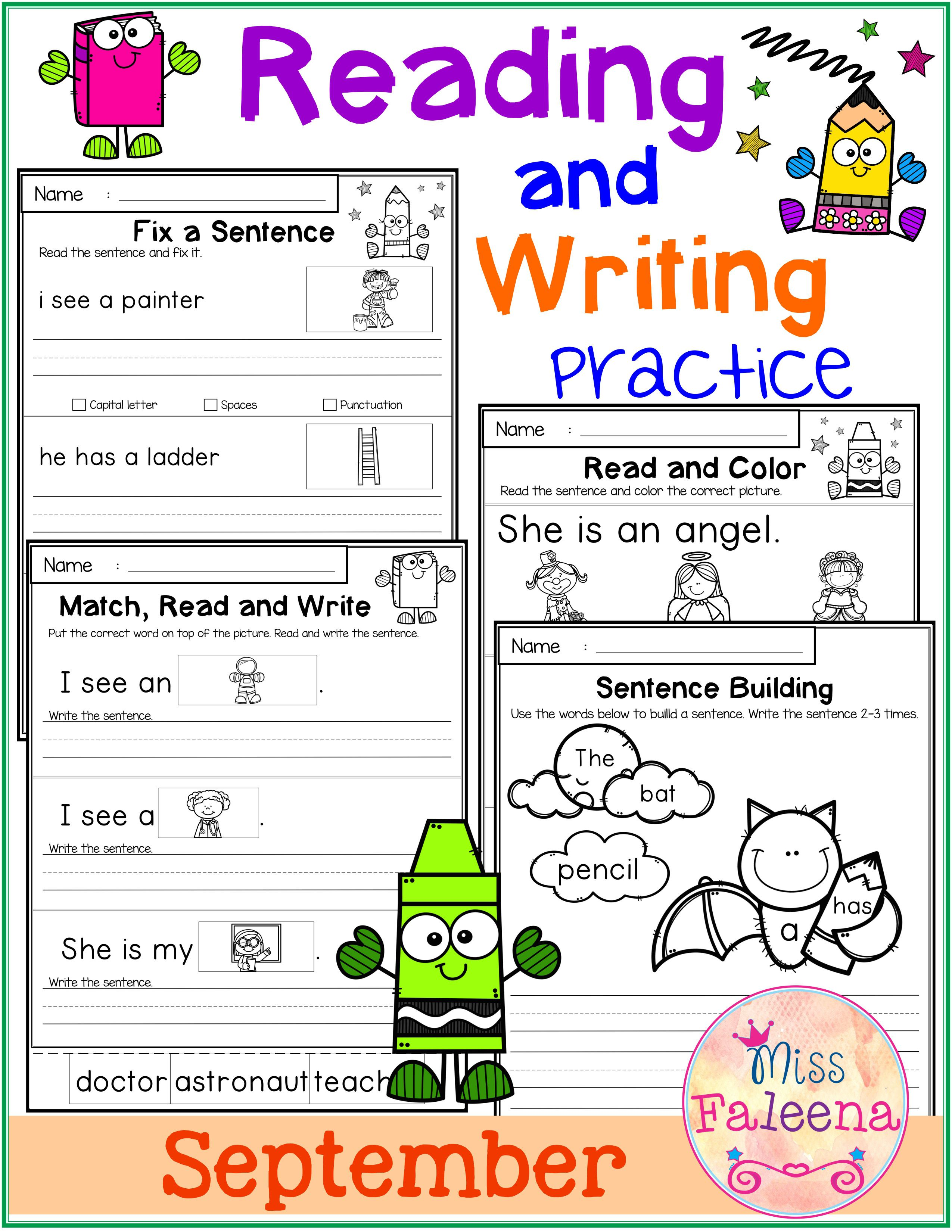 September Reading And Writing Practice This Product Has