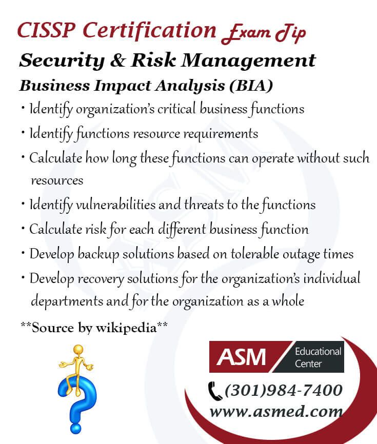 Cissp Certification Traning  Exam TipCissp Security  Risk
