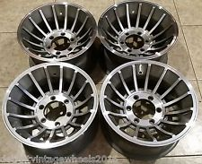15x8 5 Western Cyclone Ii Turbine Mag Wheels 6 Lug 6x5 5 Gm Chevy