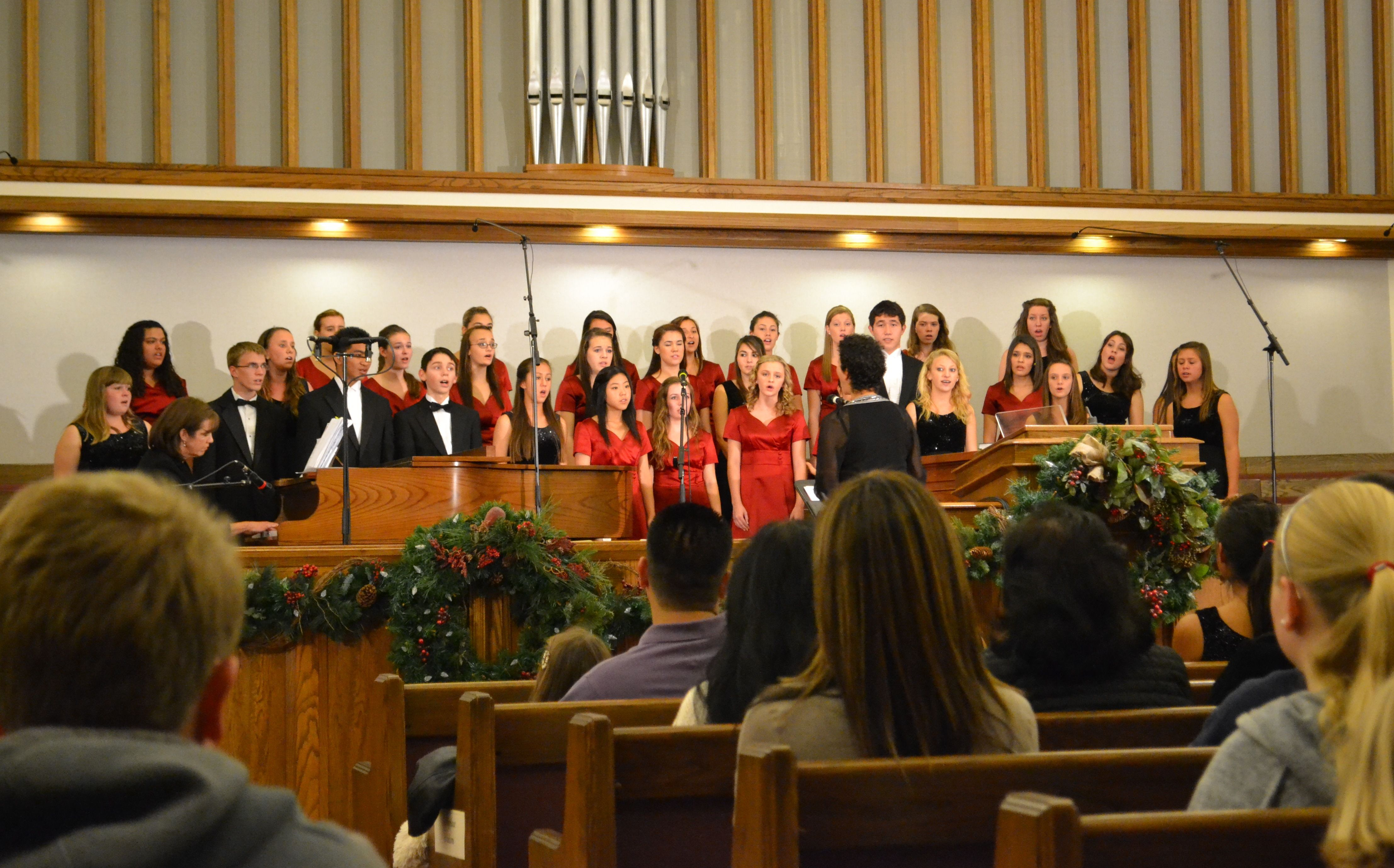 Most of the local middle and high school vocal ensembles perform during the nativity show.  The stake children's choir performs every year as well.