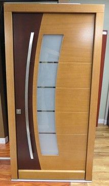 Retro Modern Exterior Door two tone | Modern Exterior Doors ...