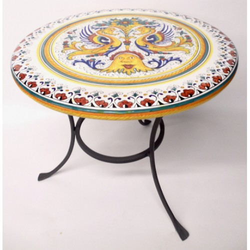 "Bonechi Imports Deruta Raffaellesco 19.5"" Table in 2020"