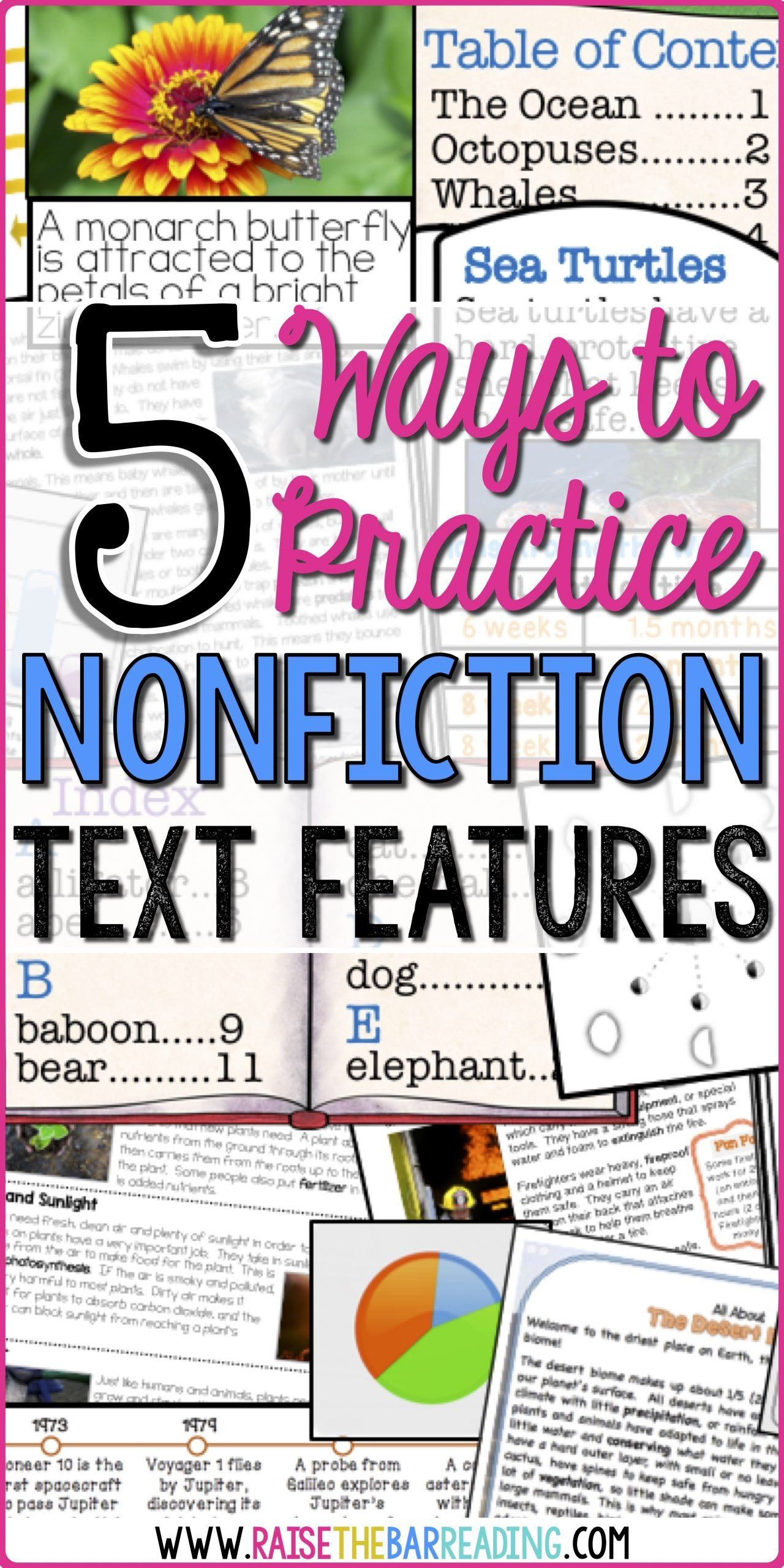 3rd Grade Text Features Worksheet 5 Ways To Practice Nonfiction Text Features Raise The Bar In 2020 Nonfiction Text Features Teaching Nonfiction Nonfiction Texts